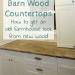 DIY Barn Wood Countertops